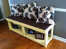 pallet wood bench storage shelf solid furniture patio porch in Camp Lejeune, North Carolina
