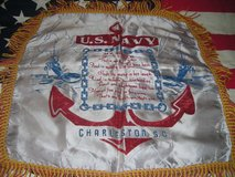 ORIG. WW-2 NAVY HOME FRONT PILLOW CASE COVER for a SISTER in Camp Lejeune, North Carolina