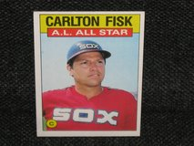 1986 Topps Carlton Fisk Baseball Card in Spangdahlem, Germany
