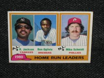 "1981 Topps ""1980 Home Run Leaders"" Baseball Card in Spangdahlem, Germany"