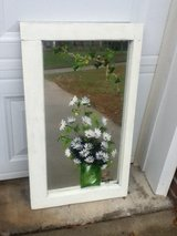 Shabby Chic White Floral Mirror Wall Hanging in Fort Campbell, Kentucky