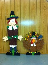 thanksgiving yard decor in Fort Polk, Louisiana