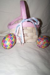 Small Easter Basket w/ 2 Hanging Eggs in Houston, Texas