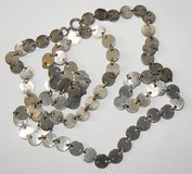 * J74 Vintage Long Silver-tone Circles Necklace in Ramstein, Germany