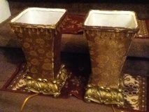 Beaded Gold Tapestry Lamps in Clarksville, Tennessee