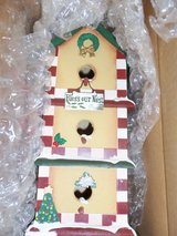 Christmas Decorated Bird House in Belleville, Illinois